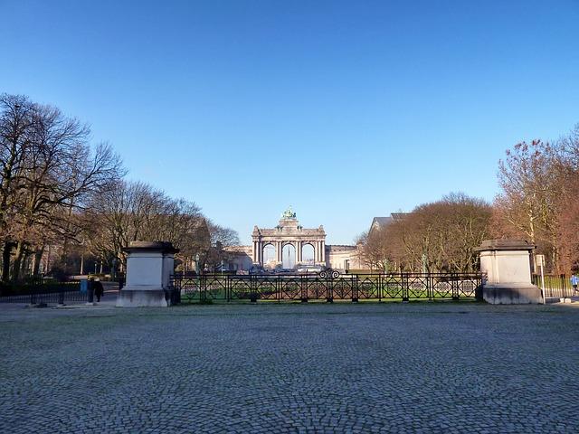 Free brussels belgium arcades du cinquantenaire landmark