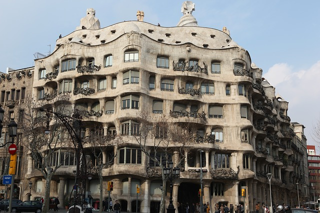 Free gaudi barcelona spain architecture city building