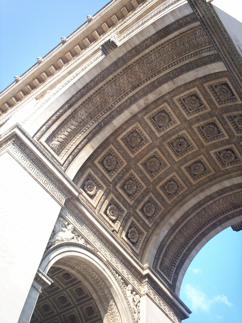 Free arch of triumph angle architecture france paris