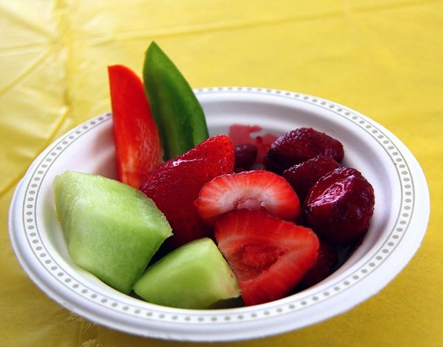Free food berries strawberries bowl melon honeydew