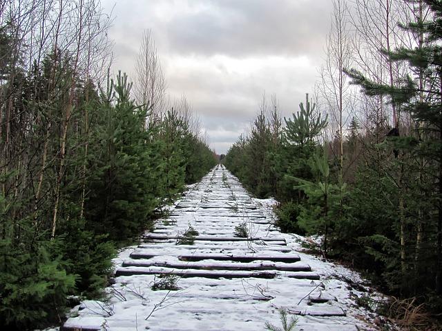 Free russia sky clouds railroad railway winter snow