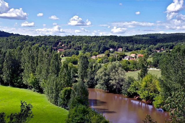 Free dordogne france landscape scenic river water