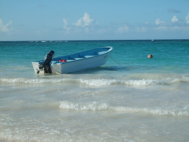 Free carribean dominican republic holiday boat water