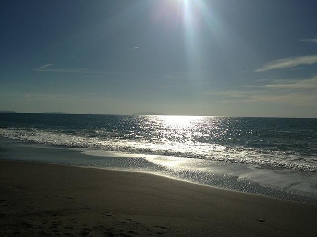 Free sea sky sunset beach