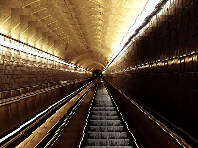 Free escalator stairs architecture terminal lighting