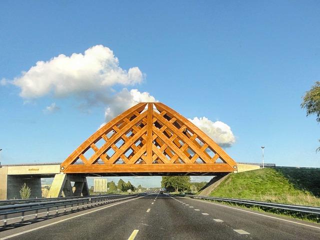 Free krusrak netherlands road highway bridge wood