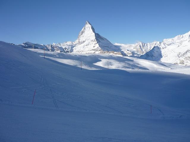 Free switzerland zermatt matterhorn snow