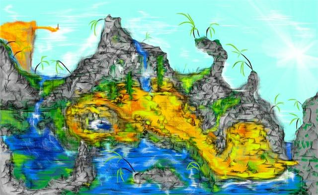 Free resort village cartoon agriculture beach art
