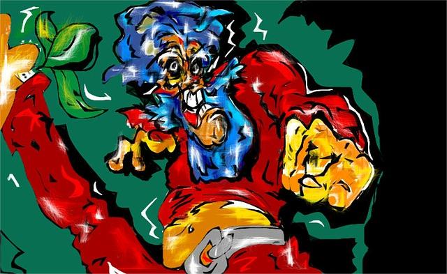Free hero super lion head colorful heads cartoon pink