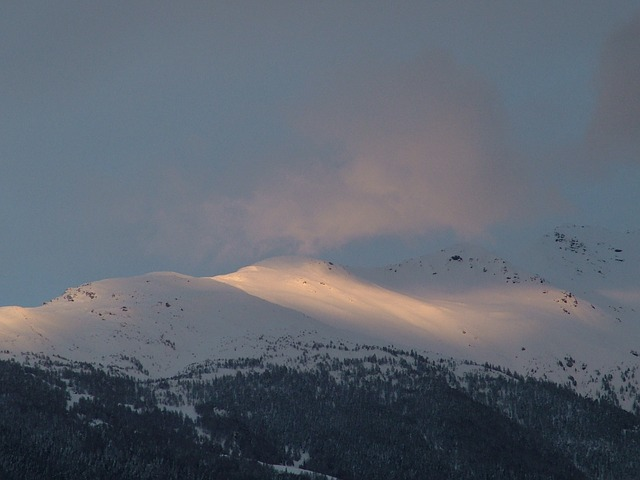 Free switzerland valais mountains sunset snow