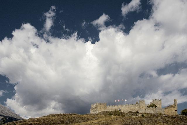 Free switzerland valais sion château de tourbillon
