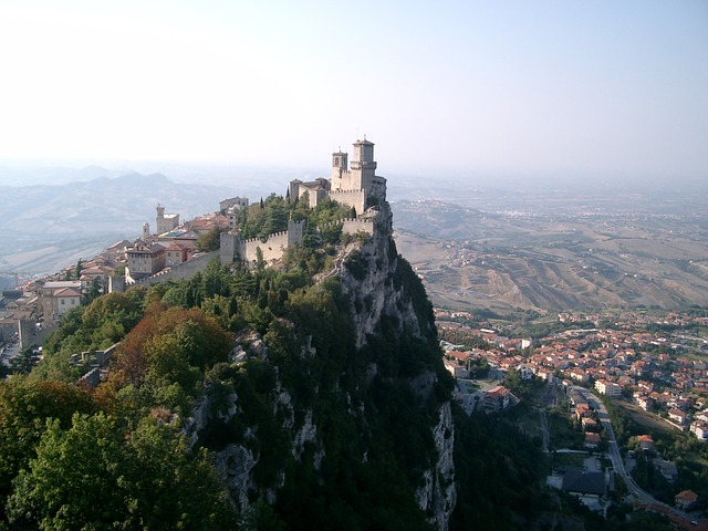 Free san marino italy city mountain view vision