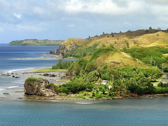 Free guam landscape scenic bay harbor water mountains