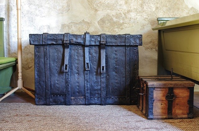 Free baggage luggage trunk chest inside bench room