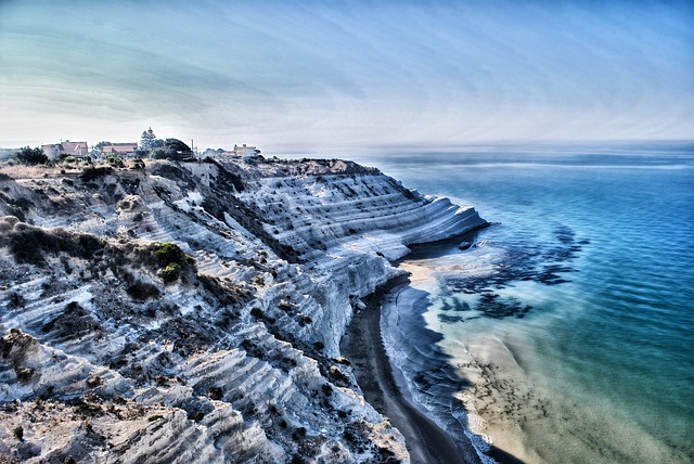 Free sicily italy mountains sky clouds sea ocean