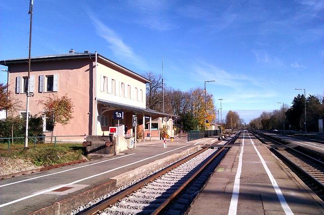 Free türkheim germany station depot train railroad