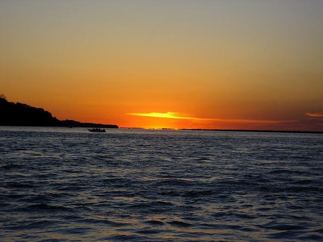 Free río paraná argentina afterglow sunset