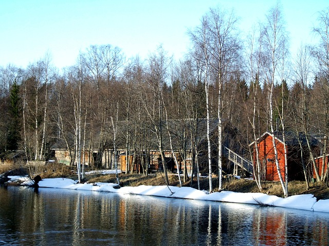 Free oulu finland landscape scenic houses homes