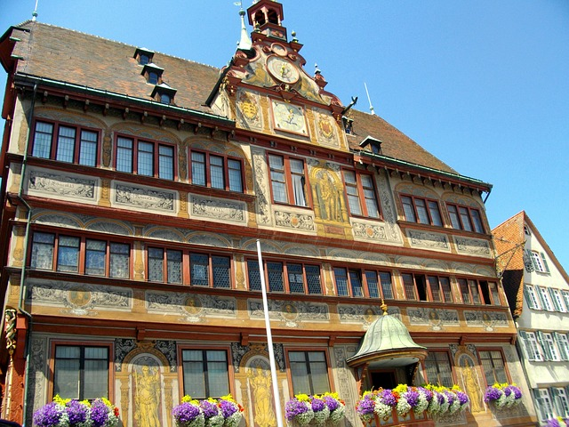 Free tübingen germany town hall building architecture