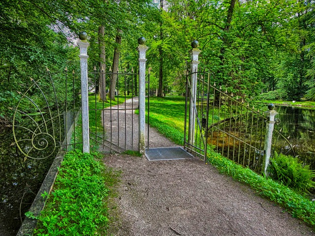 Free nv ermelo netherlands gate trees path lane summer