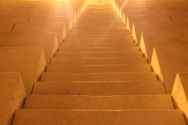 Free stairs light temple ray of light sun