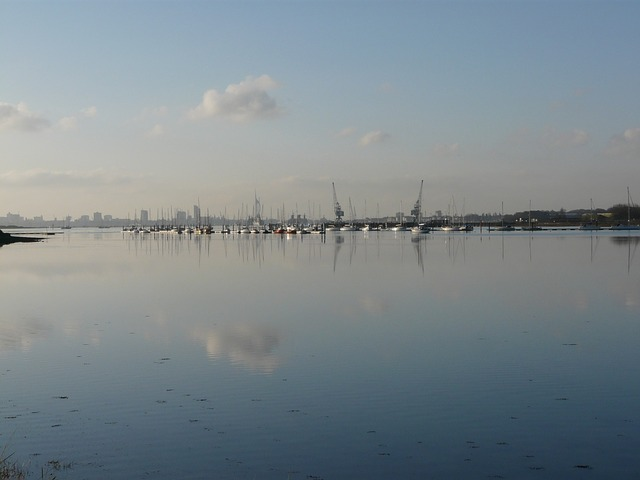 Free calm portsmouth harbour harbour city water