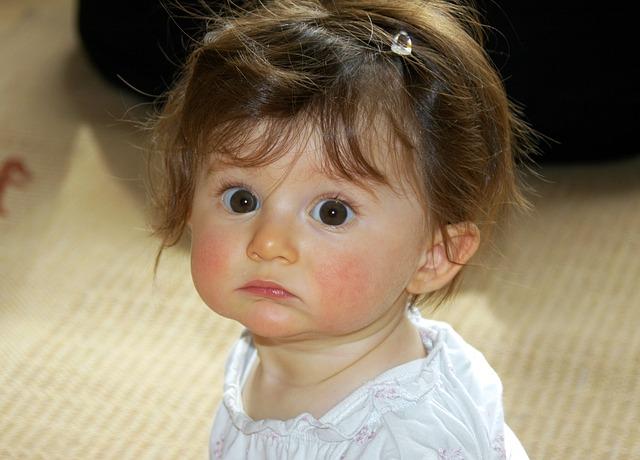 Free little girl portrait face big eyes baby cute