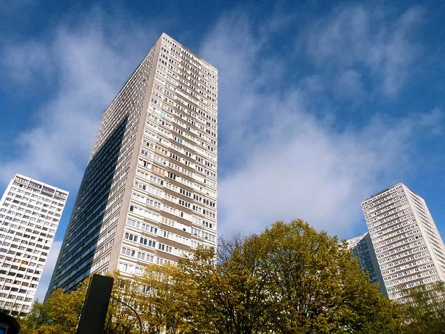 Free paris france skyscraper buildings urban apartments