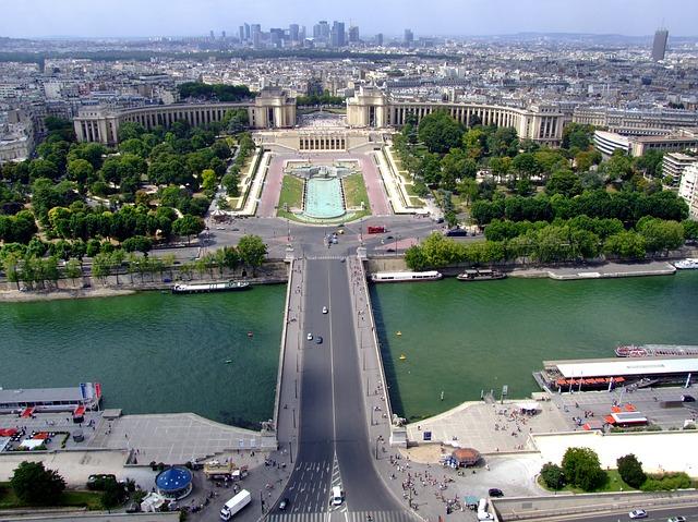 Free paris france landscape scenic palais de challot