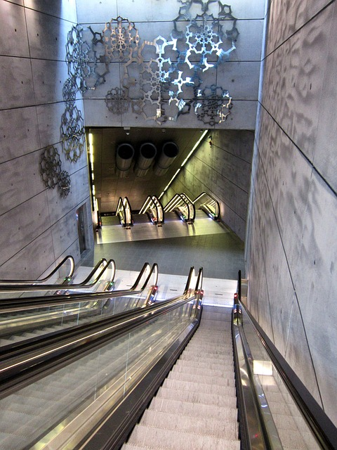 Free malmo sweden train station escalator building