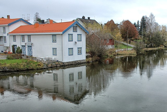 Free akershus norway house homes canal water