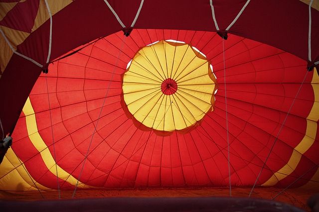 Free hot air ballooning flight light entertainment fire