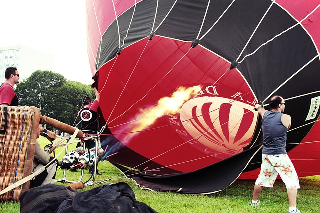 Free hot air ballooning flight sky light peace