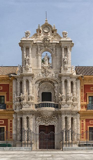 Free seville spain palace san telmo building