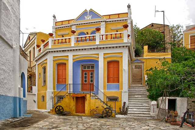 Free symi greece buildings nautical museum colorful