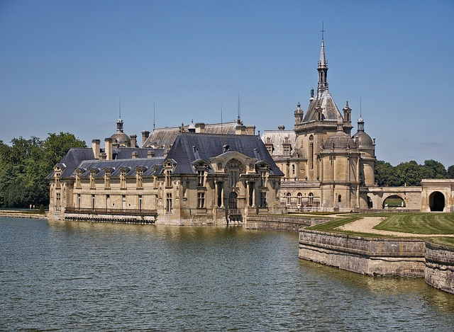 Free chantilly france palace castle buildings