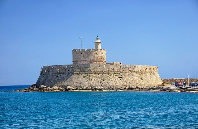 Free rhodes greece fort saint nicolas fortress castle
