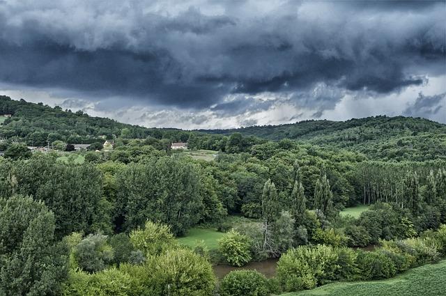 Free dordogne france landscape scenic sky clouds