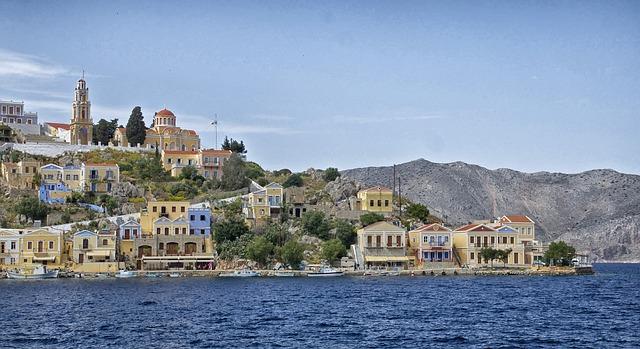 Free Photos: Symi greece landscape bay harbor water shoreline | David Mark
