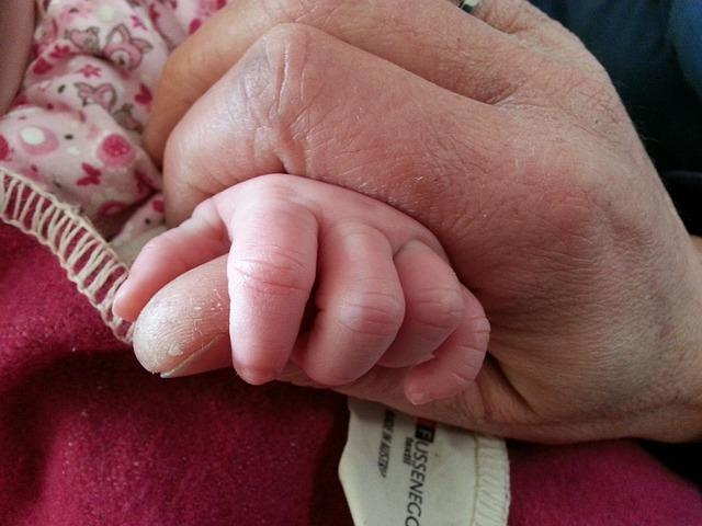 Free father son baby daughter hands keep grandchildren