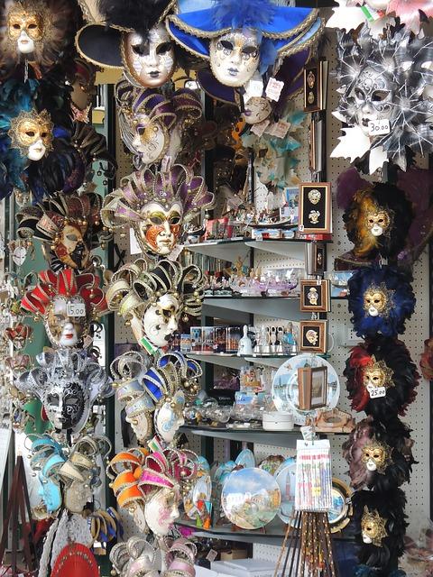 Free venice italy masks shops souvenirs shop