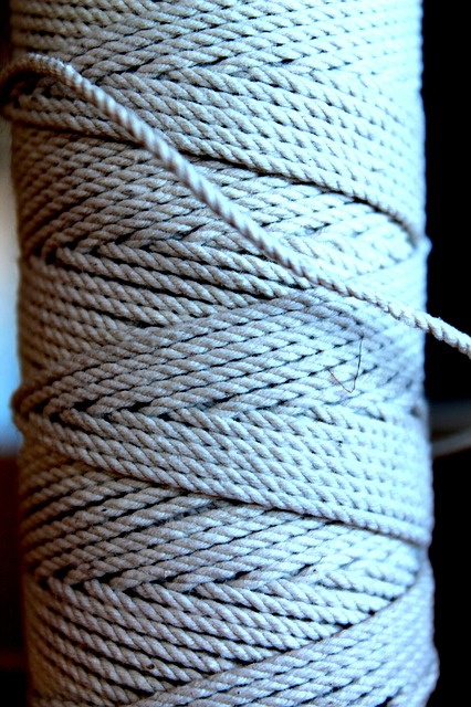 Free thread spool twine sew hemp rope