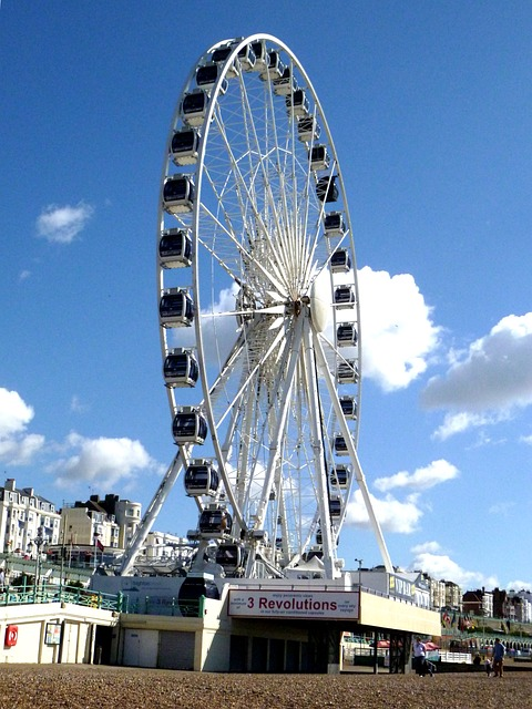 Free ferris wheel wheel of excellence tourist attraction