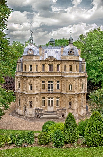 Free yvelines france castle palace building facade