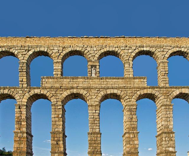 Free segovia spain roman aqueduct architecture sky
