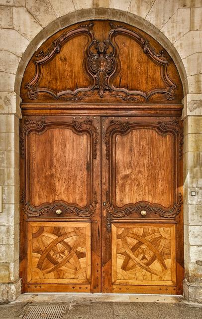 Free larochelle france chamber of commerce building door