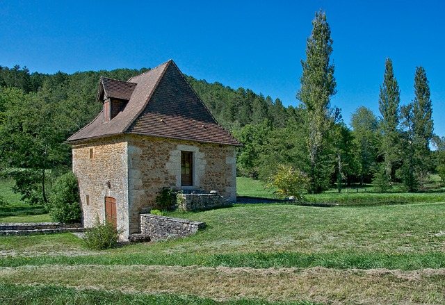 Free dordogne france house cottage architecture stone