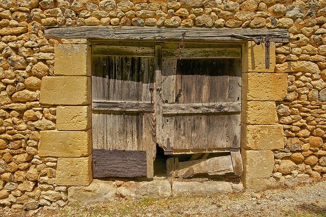 Free dordogne france barn window wood wooden