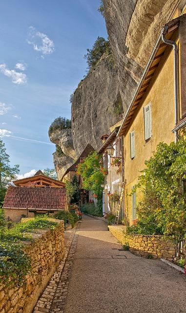 Free dordogne france buildings houses flowers mountain