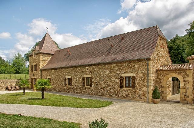 Free dordogne france cottage resort building
